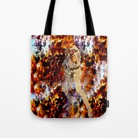 luke hemmings Tote Bags featuring LUKE by Saundra Myles