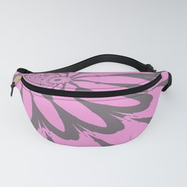 Modern Flower Orchid Pink Gray Fanny Pack
