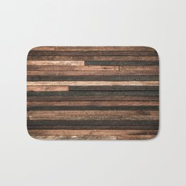 Vintage Wood Plank Bath Mat