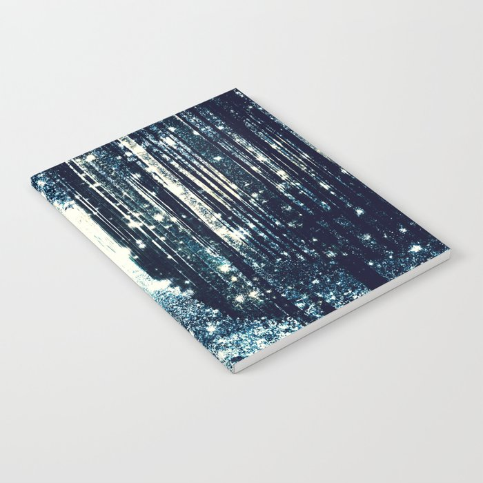 Magical Forest Teal Gray Elegance Notebook