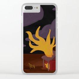 Night Fire Clear iPhone Case