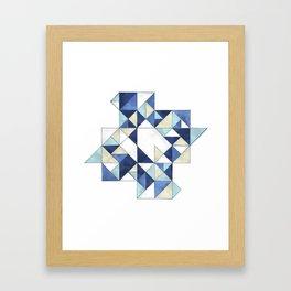 Abstraction of a blue bird Framed Art Print
