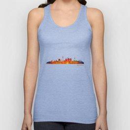 Barcelona City Skyline Hq _v1 Unisex Tank Top