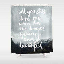 Young and Beautiful - Asturias, Spain Shower Curtain