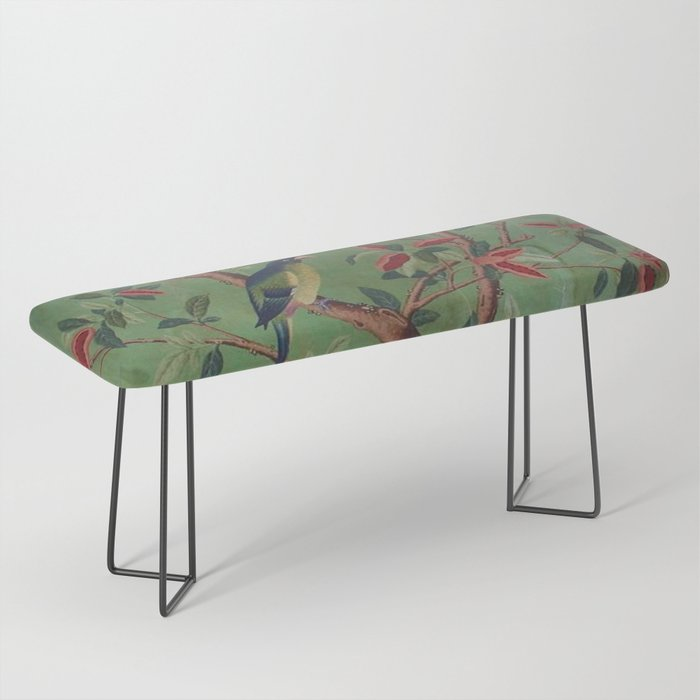 Green Dream Chinoiserie Bench