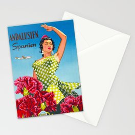 Andalusia - Vintage Travel Poster Stationery Cards