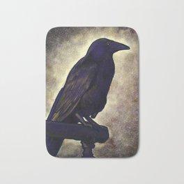 Black Raven of Peace Bath Mat
