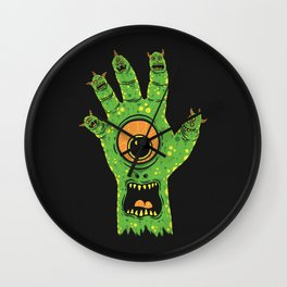 Finger Monsters Wall Clock