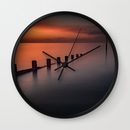 Seascape Sunset Wall Clock