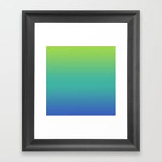 GREEN -> TEAL -> BLUE FADE Framed Art Print