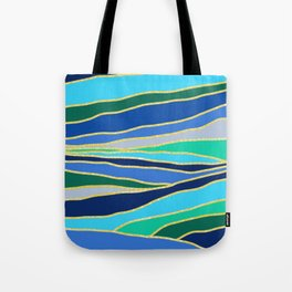 Golden Lines Scape Tote Bag