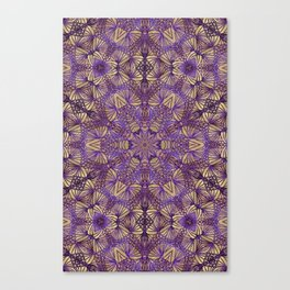 Purple Lace Pattern Canvas Print