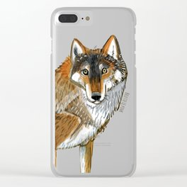 Wolves of the World: Carpathian wolf (Canis lupus lupus) (c) 2017 Clear iPhone Case