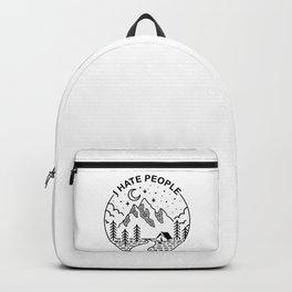 hate people merch Backpack