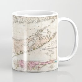 Long and Staten Island Map Coffee Mug