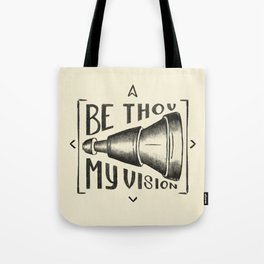Be Thou My Vision (black) Tote Bag