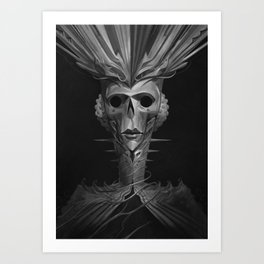 Skeleton Lady Art Print