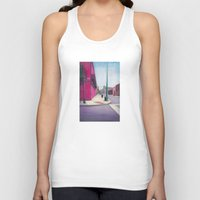 memphis Tank Tops featuring Memphis Drawing by wendygray