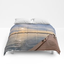 Alexandria Bay Sunset Comforters