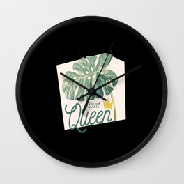 Plant queen with crown plant woman Wall Clock