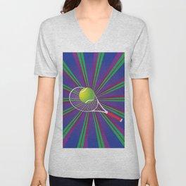 Tennis Ball and Racket Unisex V-Neck