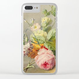 """George Jacobus Johannes van Os """"Floral Still Life"""" Clear iPhone Case"""