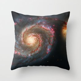 Whirlpool Galaxy and Companion Galaxy Throw Pillow