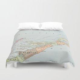 Vintage Map of Bermuda (1901) Duvet Cover