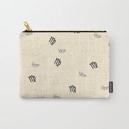 Virgo Pattern - Beige Carry-All Pouch