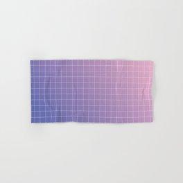 purple / pink - grid Hand & Bath Towel