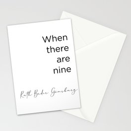 RBG Ruth Bader Ginsburg Quote  Stationery Cards