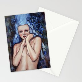 Blue Wig Stationery Cards