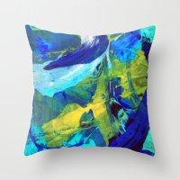 blueprint Throw Pillows featuring Blueprint by Faye Readman