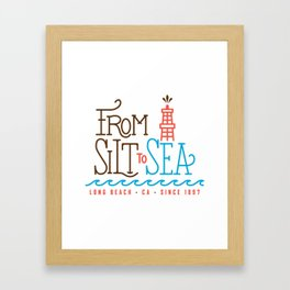 From Silt to Sea | Long Beach California Tribute | From Oil Workers to Surfers Framed Art Print