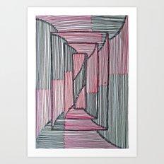 Rectangle Illusion Art Print