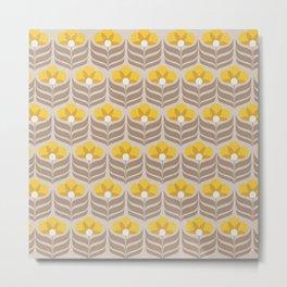 Sunny retro pattern no6 Metal Print
