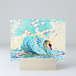 Swan Life   Painting  Mini Art Print