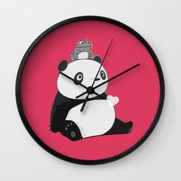 Panda 3 Wall Clock