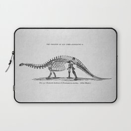 Vintage Dinosaur Poster, 1896 (Brontosaurus) Laptop Sleeve
