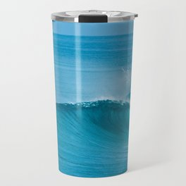 Surfer Paddling Out Travel Mug