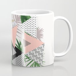 Abstract of geometric patterns with plants and marble Coffee Mug