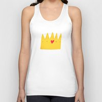 crown Tank Tops featuring Crown by Mia Page