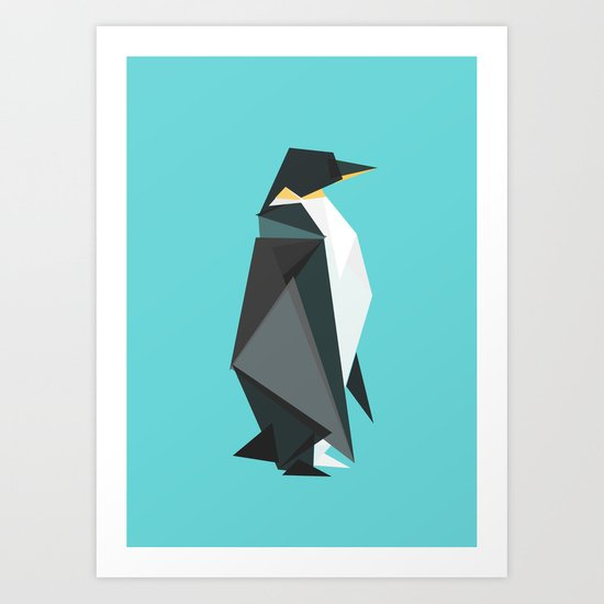 Fractal geometric emperor penguin by budikwan