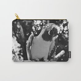 Black And White Photogenic Macaw Carry-All Pouch