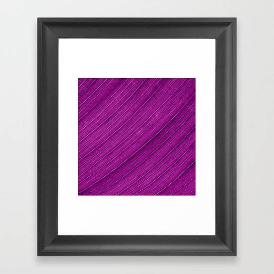 purple banana leaf Framed Art Print