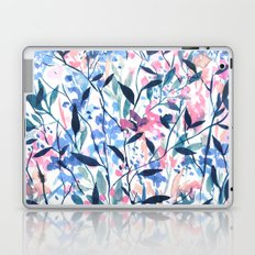 Wandering Wildflowers Blue Laptop & iPad Skin