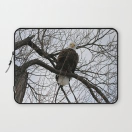 Bald Eagle Stare Down Laptop Sleeve
