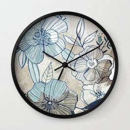 Vintage Botanical Wall Clock