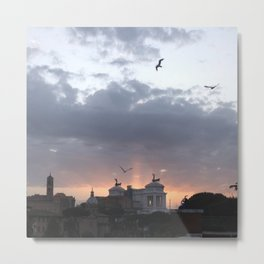 Flying over Rome Metal Print