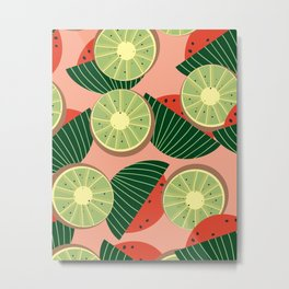 Watermelons and kiwis Metal Print
